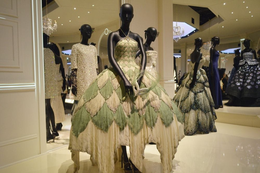 Christian Dior Feathered Dress