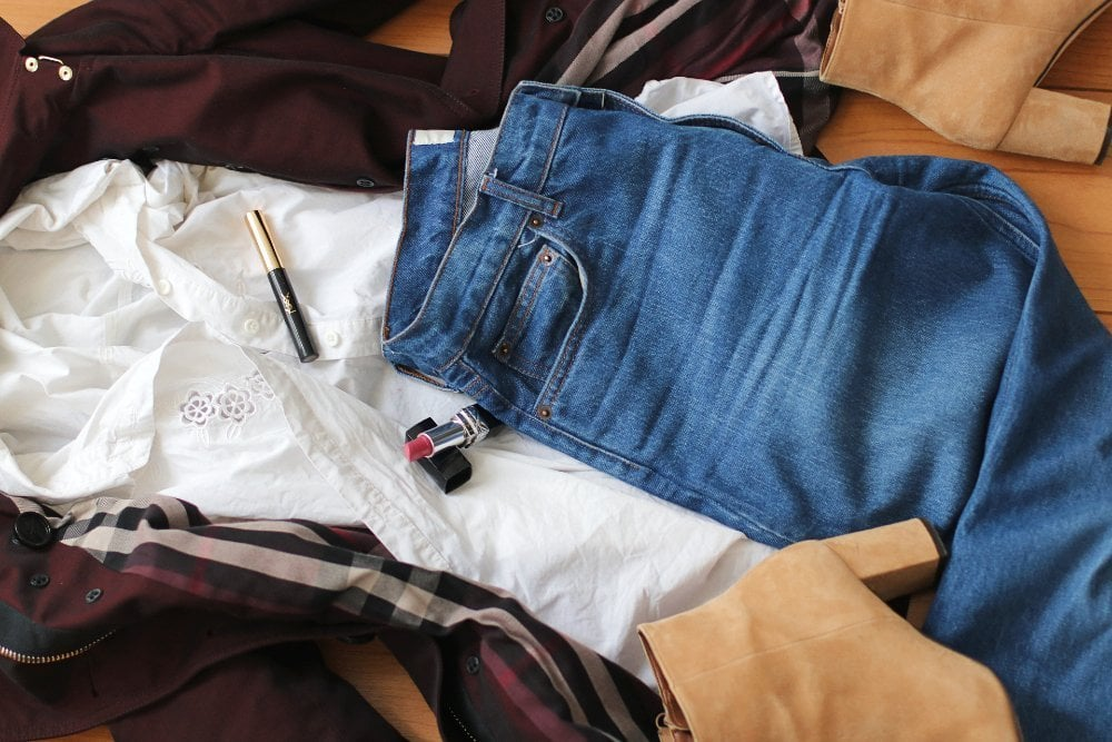 autumn outfit with jeans
